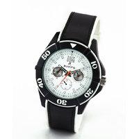 Av72blkwht-Sor Black/White Analog Watch