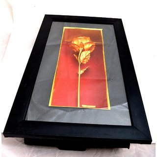 Gold Plated Rose with Fram