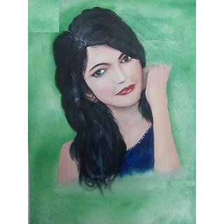 Girl Poster color painting