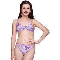 Vanila- Fiza Bra & Panty Set-Purple color