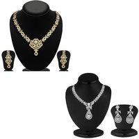 Sukkhi Angelic 2 Pieces Necklace Set Combo