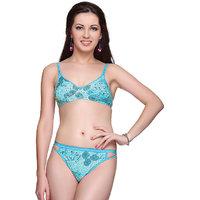 Vanila- Fiza Bra & Panty Set - Blue color