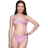 Vanila- Fiza Bra & Panty Set - Pink color