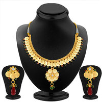 Sukkhi Graceful Gold Plated Temple Jewellery Necklace Set