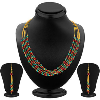 Sukkhi Classy Five Strings Gold Plated Necklace Set