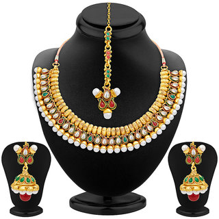 Sukkhi Charming Gold Plated Necklace Set