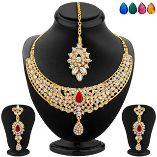 Meia Gold Plated Multicolor Necklace Set For Women