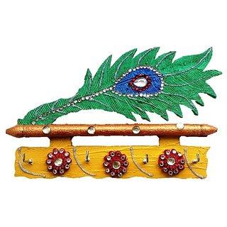 Unique arts decorative mor pankhi key holder buy unique for Unique decorative accessories
