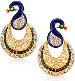 Sukkhi Gold Plated Multicolor Alloy Dangle Earrings for Women