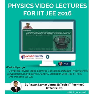 IIT JEE Physics Preparation Material (2016) : Video Lectures for JEE Main and Ad