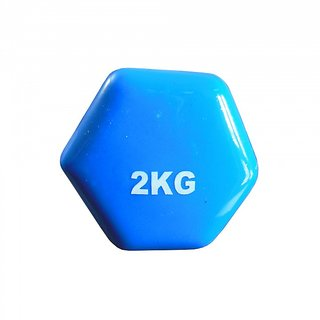Prokyde Vinyl (Single) Fixed Weight Dumbbell- 2 kg - Blue