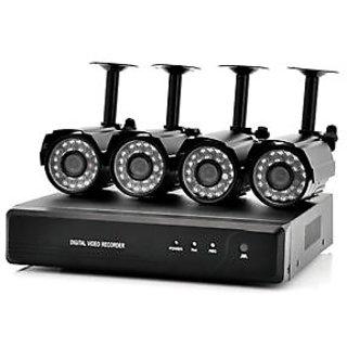 CCTV CAMERA KIT 4-BULLET CAM WITH 4-CH DVR