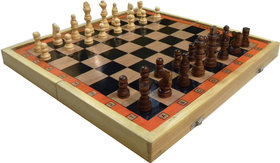 Wood O Plast Chess Box Special - 15 Inches (With Wooden Chessmen)