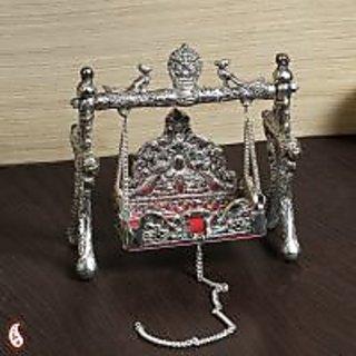 White Metal Ornate Shree Laxmi Jhula