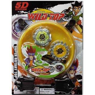 AZI 5D Super Hero Wild Top Beyblade (Assorted )