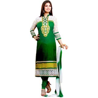 TSS Cotton Embroidered Semi-stitched Salwar Suit Dupatta Material (Unstitched)