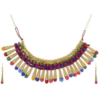 Shilpi Handicrafts Alloy Multi colour Traditional Necklace Set