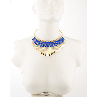 Shilpi Handicrafts  Blue Statement Necklaces