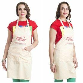 k decor set of 2 apron
