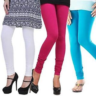Multi Color Leggings (White Dark Pink and Blue)