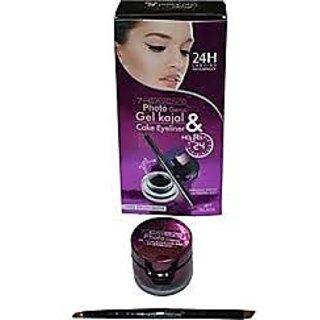 Gel Kajal & Cake Eyeliner - 24 Hour Lasting & Waterproof