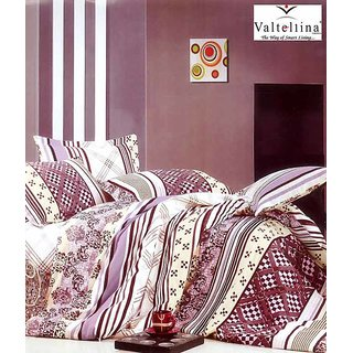 Valtellina Geometrical Print 2 Single Bedsheets with 2 Pillow Covers (AMZ2S-11)