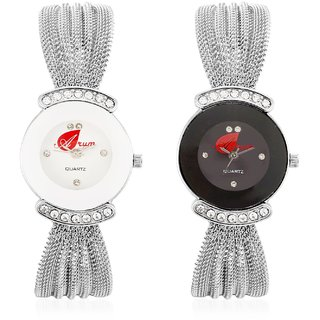 Arum White  Silver Catena Watch AW-023