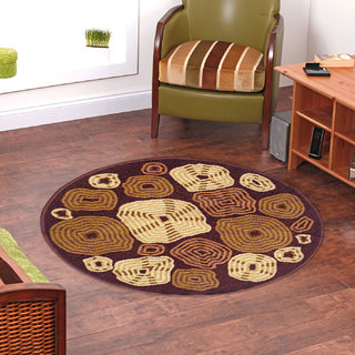 Status Beige,Brown Nylon Rugs ( 30X30 Inch)
