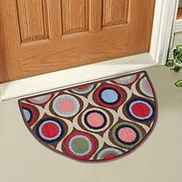 Green,Brown Nylon Floor Mat ( 15 X22 Inch )
