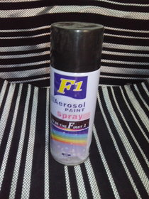 F1 Aerosol Spray Paint Black 450ml - Car / bike Multi Purpose