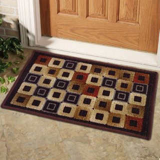 Status Multicolor Nylon Door Mat ( 15X22 Inch)