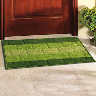 Status Green Geometric Delure Door Mats ( 38 Cm X 58 Cm)