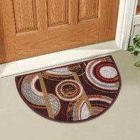 Brown,Silver Nylon Floor Mat ( 15 X22 Inch )