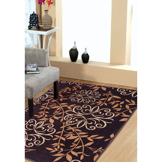 Status Black,Brown Nylon Rugs ( 36X60 Inch)