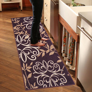 Status Black Nylon Printed Runner (22X55 Inch)
