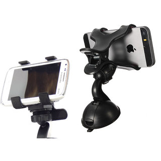 Clip Car Mobile Holder with Double Clamp