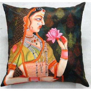 valtellina indiaA Lady Portrait 3D Digital Cushion Cover(DGC_18X18_015)