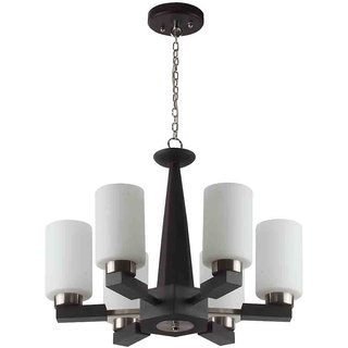 LeArc Designer Lighting Contemporary Glass Metal Wood Chandelier CH112