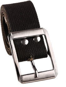Fashno Casual Black Cotton Belt
