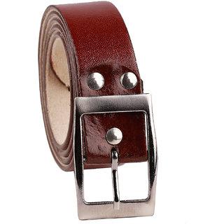 Fashno Brown Leatherite Belt for Men