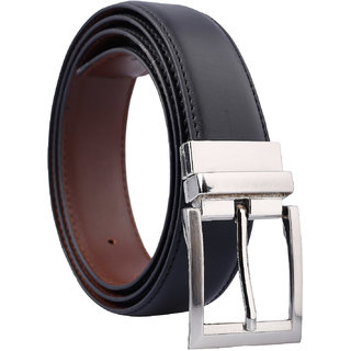 Fashno Formal Reversible Black and Brown Leatherite Belt(Length-48 inch and Width-1.5 inch)