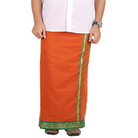 Prakasam Cotton Rm Fancy Dhoti Dark Kavi