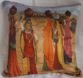 ASC Cotton Valvet Digitally Printed Cushion Covers 40 cms*40 cms (2 pcs set)