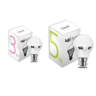 Claire 3 Watt And 5 Watt Led Bulb Combo