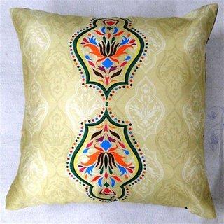 Welhouse India Ikat Designing 3D Digital Cushion Cover - Pack of 1