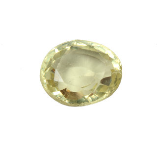 Akash Ganga NATURAL 9.5 Ratti Yellow Topaz (Sunhela), Delux Category