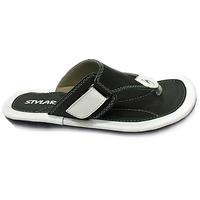 STYLAR Mahi Flip Flops (Olive and White)