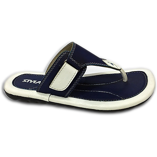 37ab41d4be68 STYLAR Mahi Flip Flops Blue and White available at ShopClues for Rs.325