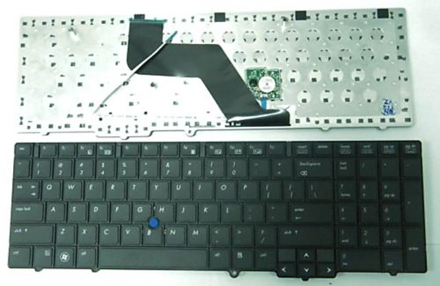 New Black Notebook Keyboard For Hp Elitebook 8540P 8540W With Pointing Stick
