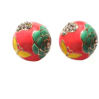 Fancy Multicolour Clip-on Studs Earrings - 754.7